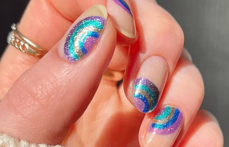glittering nail polish 2021